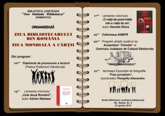 Ziua Mondiala a Cartii si Ziua Bibliotecarului roman, celebrate (si) la Targoviste