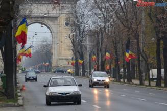 Ziua Nationala: Austeritate, lozinci anti-Basescu, fasole si tuica fiarta