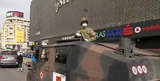 armata pe strazi