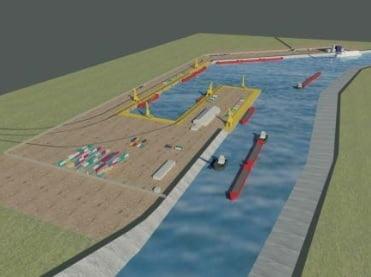 Asa ar trebui sa arate unul dintre porturile din apropioere de Capitala ale Canalului Bucuresti-Dunare