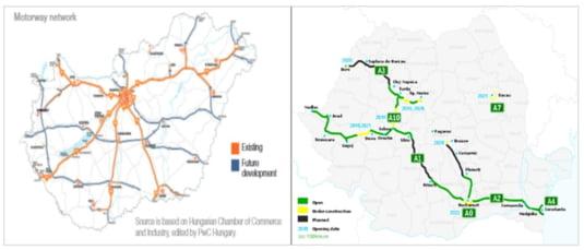 Autostrazi Romania Ungaria