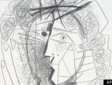 """avem Desenul lui Picasso """"Cap de femeie"""" recuperat de politie la doua zile dupa furt"""