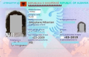 buletin biometric Albania