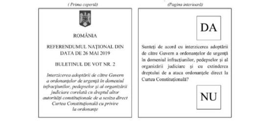 buletin vot referendum justitie - intrebarea 2