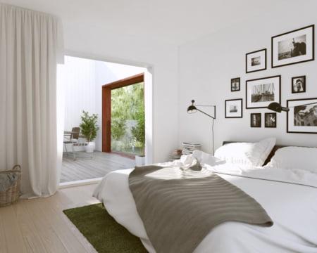 casa Suedia dormitor