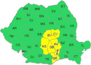 cod galben ploi Bucuresti 11 septembrie