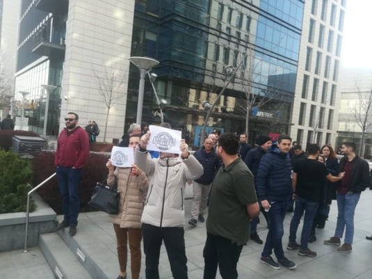 corporatisti protest