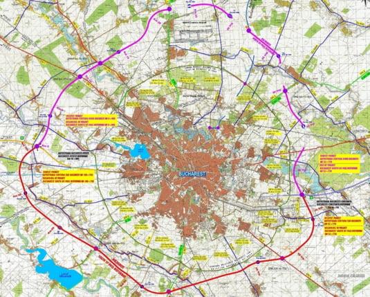 Cum arata pe hartie Autostrada A0, care va inconjura Bucurestiul