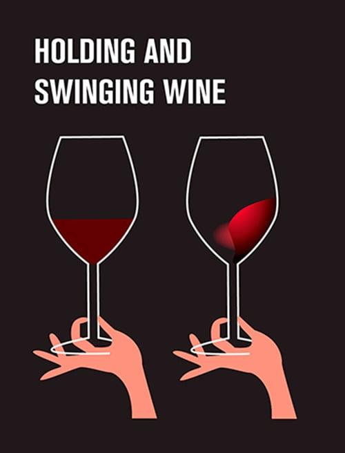 Cum sa tii si sa agiti usor paharul de vin