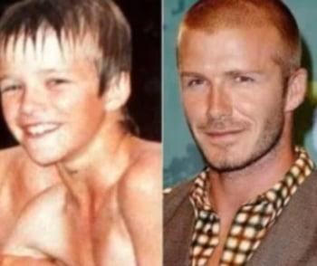 David Beckham copil fotbalist