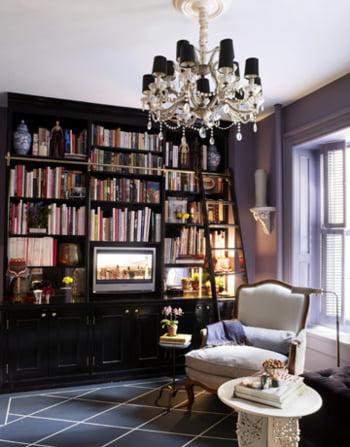 decor camera mica biblioteca mare