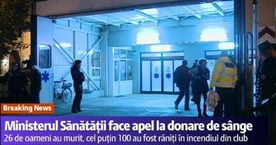 Explozie club Colectiv Bucuresti - apel la donare de sange