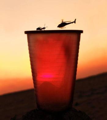 fotografie iluzie gandac elicopter
