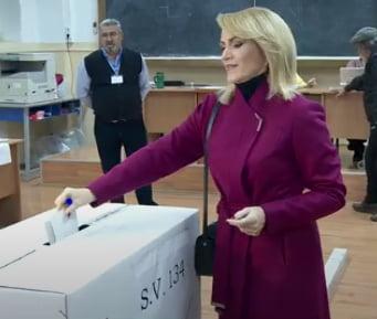 Gabriela Firea a votat in turul doi