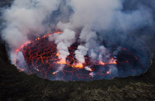 Goma, Muntele Nyiragongo, Republica Democrata Congo