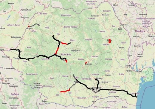 harta autostrazi Romania