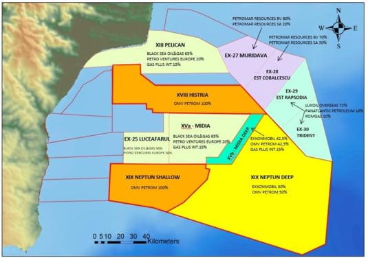 harta concesiuni gaze Marea Neagra