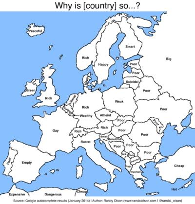 Google A Pus O Eticheta Fiecarei Tari Din Europa Care Este
