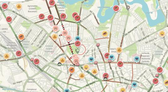 harta trafic bucuresti