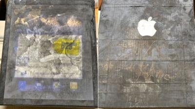 iPad...de lemn, cumparat dintr-o parcare McDonald's