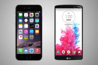 iPhone 6, un smartphone slab fata de LG G3