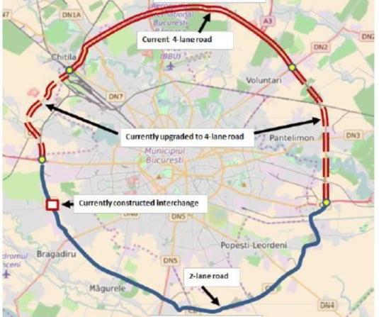 Impartirea schematica a Centurii Capitalei