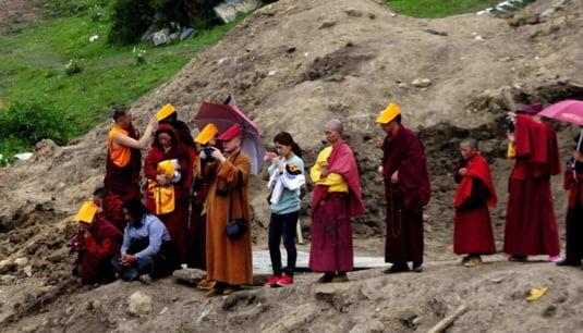 Inmormantare in Tibet