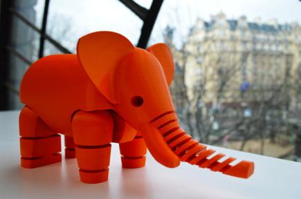 jucarie elefant imprimanta 3d
