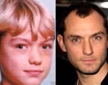 Jude Law cum arata copil