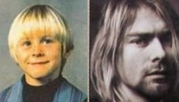 Kurt Cobain copil infatisare