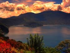 lacul Coatepequ noaptea