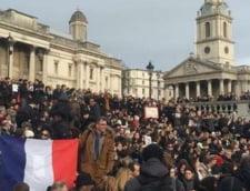 manifestatie Londra atentate Franta