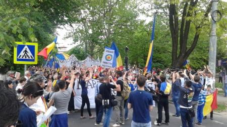 Manifestatie strada Chisinau