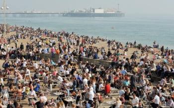 Marea Britanie oameni plaja