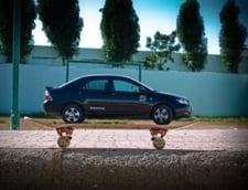 masina urcata placa skateboard iluzie optica