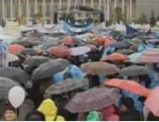 miting umbrele ziua motiunii