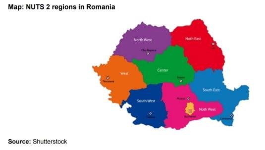NUTS regiuni Romania