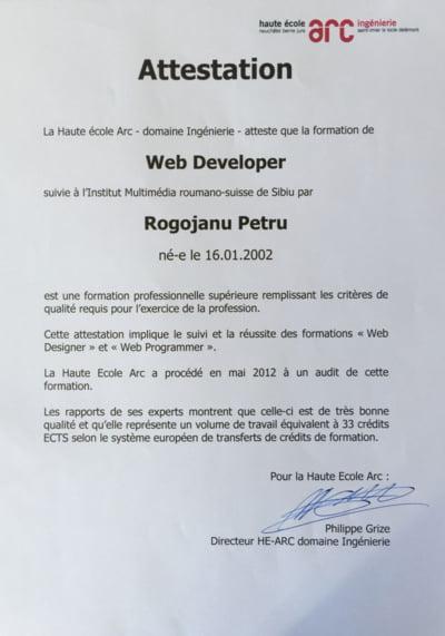 Petru Rogojanu Web Developer