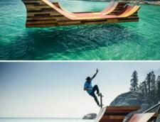 pista skateboard plutitoare