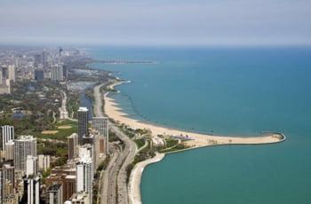 plaja North Avenue Beach Chicago