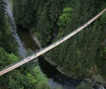Podul Capilano Suspension din Canada