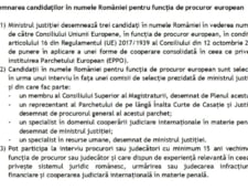 proiect tudorel toader procuror european