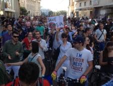 protest biciclisti Rosia Montana