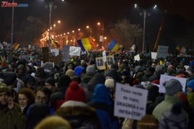protest guvern miercuri
