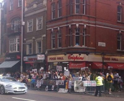 protest Londra Rosia Montana