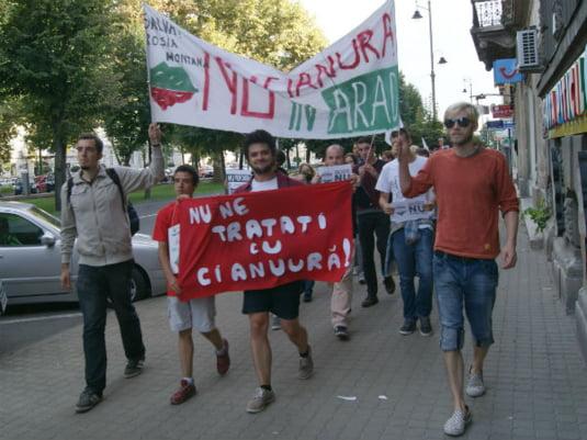 Protest Rosia Montana Arad