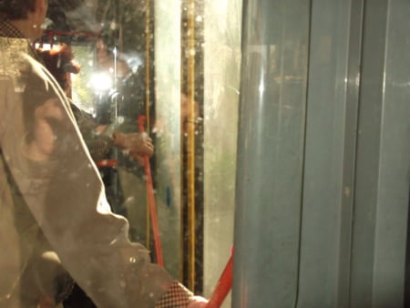 Ratb troleibuz murdar geam interior