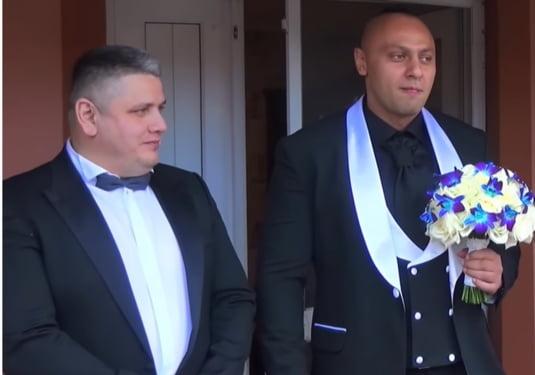 Romi Negus si nasul Mircea Nebunu la nunta
