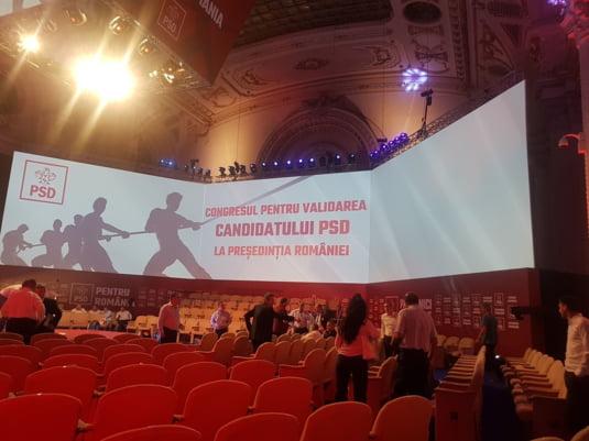 Sala pregatita pentru Congresul PSD