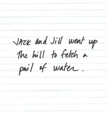Scris mare de femeie